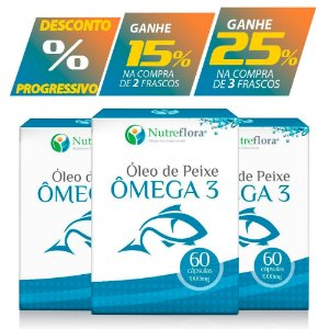 Ômega 3 - fish oil -1000mg (60 cápsulas)