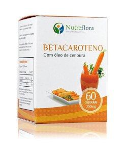 Betacaroteno (Óleo de Cenoura) -60 cáps. 250mg- Nutreflora