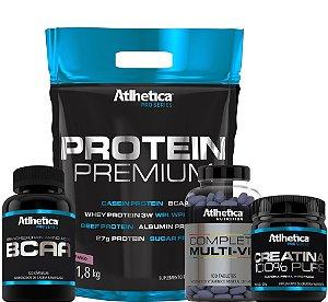 combo Protein Premium + Multivitamínico + Bcaa | Grátis Creatina