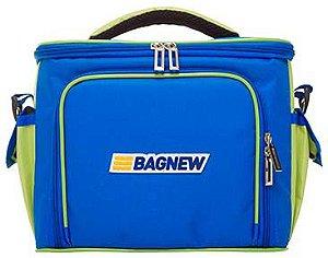 Bolsa Térmica Fitness Média com acessórios - azul
