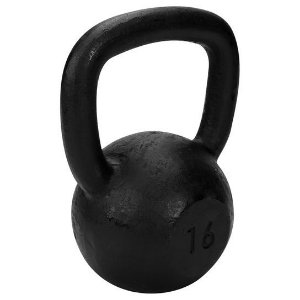 Kettlebell de 16 kg de ferro da TURBO FITNESS