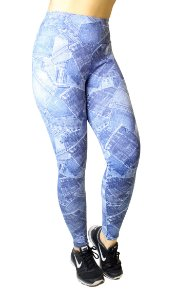Calça Legging Jeans Fake Poliamida