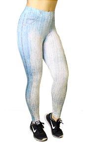 Calça Legging Fake Jeans com Cintura Alta