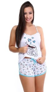 Pijama Baby Doll Estampado Short