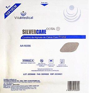 Curativo Silvercare Alginato Calc Prata 10x10cm Cx.10 Vitamedical