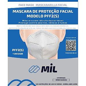 Máscara Respiradora PFF2 Branca Mil (Elástico Atrás Orelhas)