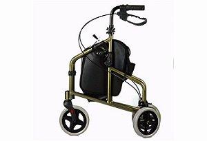 Andador em Alumínio 03 Rodas Mobil Cor:Bronze