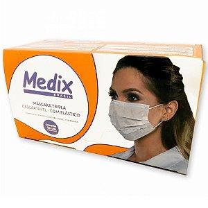 Máscara Hospitalar Tripla Descartável com Elástico