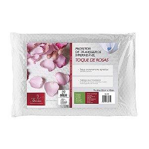 Capa Protetora de Travesseiros Impermeável Toque de Rosas