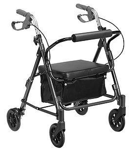 Andador 4 rodas Flex PRATA