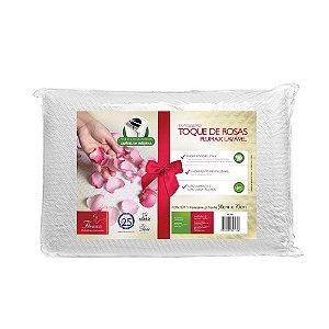 Travesseiro de Fibra Siliconizada Toque de Rosas