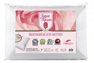 Travesseiro Toque de Rosas Látex Lavável em Maquina de Lavar
