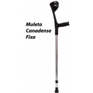 Muleta Canadense Fixa Preta 130Kg Par  **(Combinar Forma de Envio)