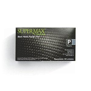 Luva para Procedimento Não Cirúrgico Sem Pó SuperMax Preto