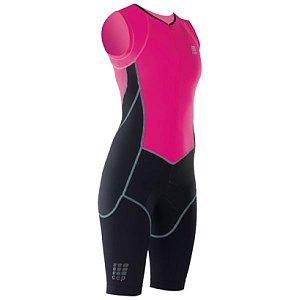 Cep Triathlon Skinsuit Feminino Preto/Pink III