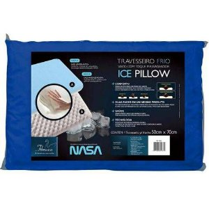 Travesseiro Frio Ice Pillow Visco + Massagem (50x70cm) - Fibrasca