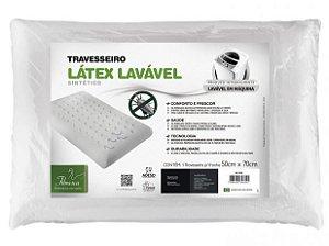 Travesseiros Látex Fibrasca Antiácaro Lavável para Dormir Sintético Plus 4604