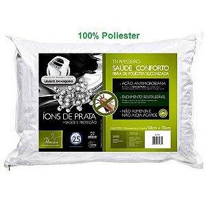 Travesseiro No Allergy Fibra Siliconizada Pe - Fibrasca  Wc2055