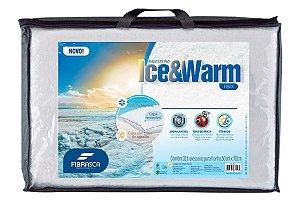 Travesseiro Fibrasca Ice & Warm Fibra  Térmico Lavavél em Maquina de Lavar