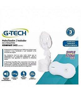 Inalador Nebulizador Compressor Portátil Compact Dc2 G-tech