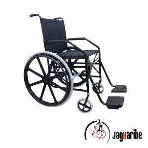 Cadeira De Rodas 1011 Preta  Larg. 45Cm