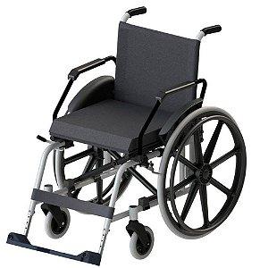 Cadeira de Rodas Taipu J3 Prata 44cm.  Jaguaribe