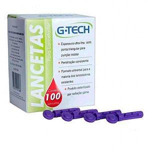 Lancetas G28 com 100 unidades G-Tech