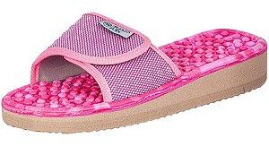 Chinelo Velcro Anabela Classic Mundoflex Rosa e Pink Ref.515