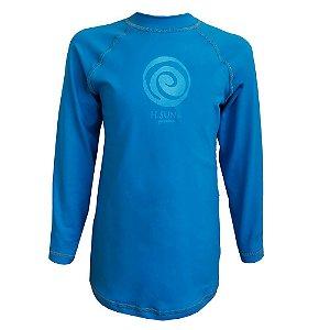 Camiseta Marine Manga Longa H.Sun Infantil Azul Tam:06