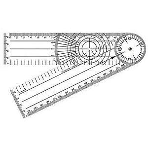 Goniômetro Para Ortopedia Gd 200X45mm Acrílico