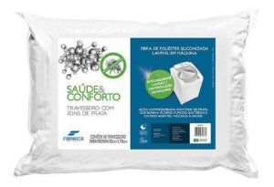Travesseiro Prateado Saúde e Conforto 50x70cm Fibrasca