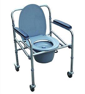 Cadeira Higiênica New Inspire Até 80 Kg (Desmontável) Com Apoio de Pé