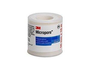 Fita Micropore Branca 50mmx10mt Com Carretel 1530 3M