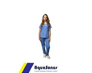 Pijama Cirúrgico Em Brim Leve Feminino Aquasonus