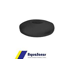 Almofada Espuma P/ Cóccix Redonda Poliamida Preta Aquasonus
