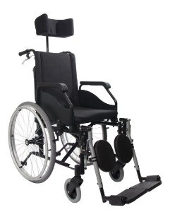 Cadeira De Rodas Fit Reclinável 44X40X50 Preta Jaguaribe