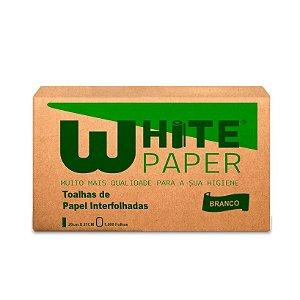 Papel Toalha White Paper 20x21 Pacote com 1000 Folhas