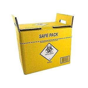 Coletor Material Perfuro Cortante 3 Litros Safe Pack