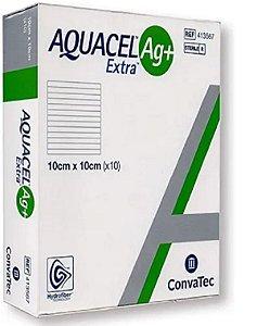 Curativo Aquacel Ag+ Extra 10 X 10Cm Unit. Br10377 Convatec