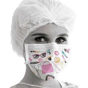 Máscara Tripla Fashion Com Elástico (Unitário)