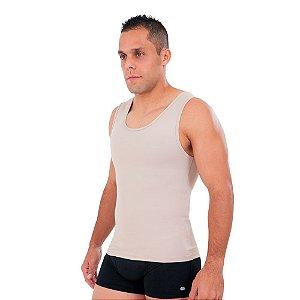 Camiseta Healthy Postural Com Reforço Masculino Bege Tam:M