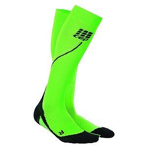 Meia Cep Progressive Run Masculina Verde Neon