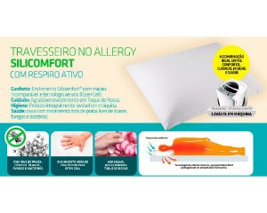 Travesseiro No Allergy Silicomfort Alto Fibrasca