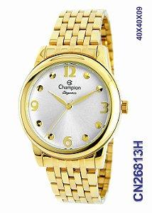 Relógio Champion Analógico Feminino Dourado Cn26813h