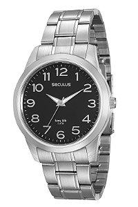 Relógio Seculus Masculino Analógico Prata 20418G0SVNA1