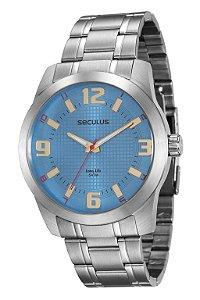 Relógio Seculus Masculino Analógico Prata 20501G0SVNA1