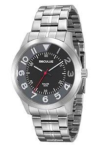 Relógio Seculus Masculino Analógico Prata 20502G0SVNA1