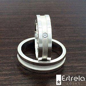 Par de alianças em prata 950 Ref 222104