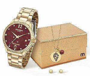 Relógio Feminino Mondaine Zodíacos - Capricórnio + Conjunto