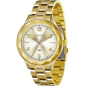Relógio Lince Feminino Analógico Dourado LRG4344LC2KX